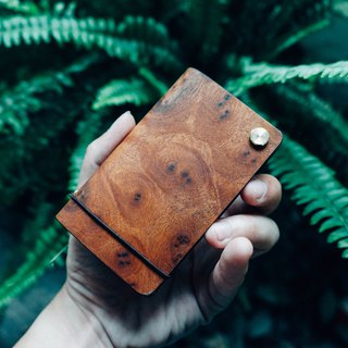 【TREETHER】 Camphor Burl Credit Card Holder