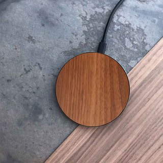 [Pre-order] wood wireless charging tray / walnut
