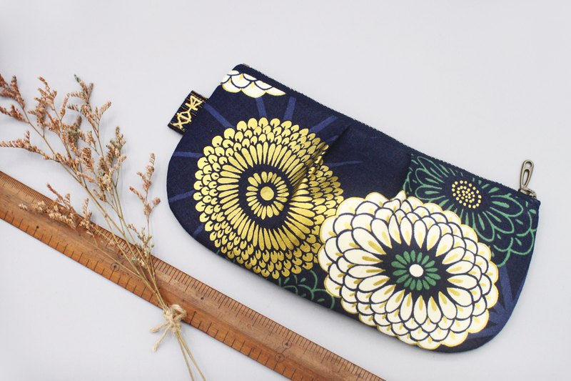 Out of Print - Ping An Universal Bag - Big Flower Rich Japanese Hot Gold Cotton