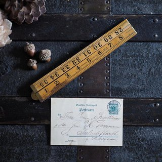 British antique wooden folding ruler A section bold number