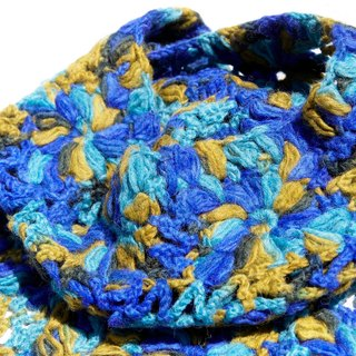 Christmas gift limited a hand hook woven scarf / wool hook woven scarf / hook woven scarf / hand woven scarf / gradient woven wool scarf - flowers colorful forest wind flower scarf