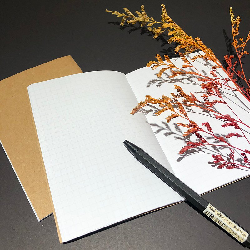 Cover stained notebook-plus size book for inner pages