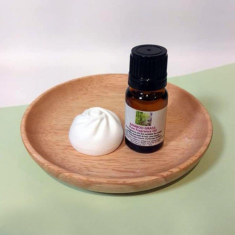 包點造型擴香石配香薰油(竹子)