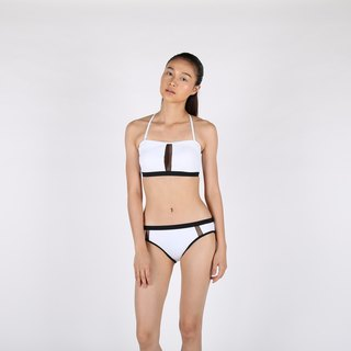 3-in-1 Mesh Bikini set - White / swimwear / M