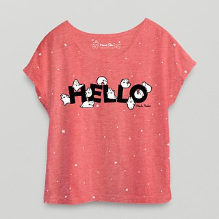 *Mori Shu*Hello T-shirt (Twist Red)