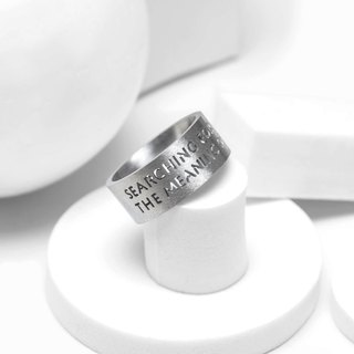 SFTMOL Steel Ring Steel Life Meaning Word Ring