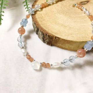 MH sterling silver natural stone custom series _ autumn fruit _ solar crystal