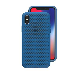 AndMesh-iPhone Xs Max dot soft crash protector - cobalt blue (4571384958837