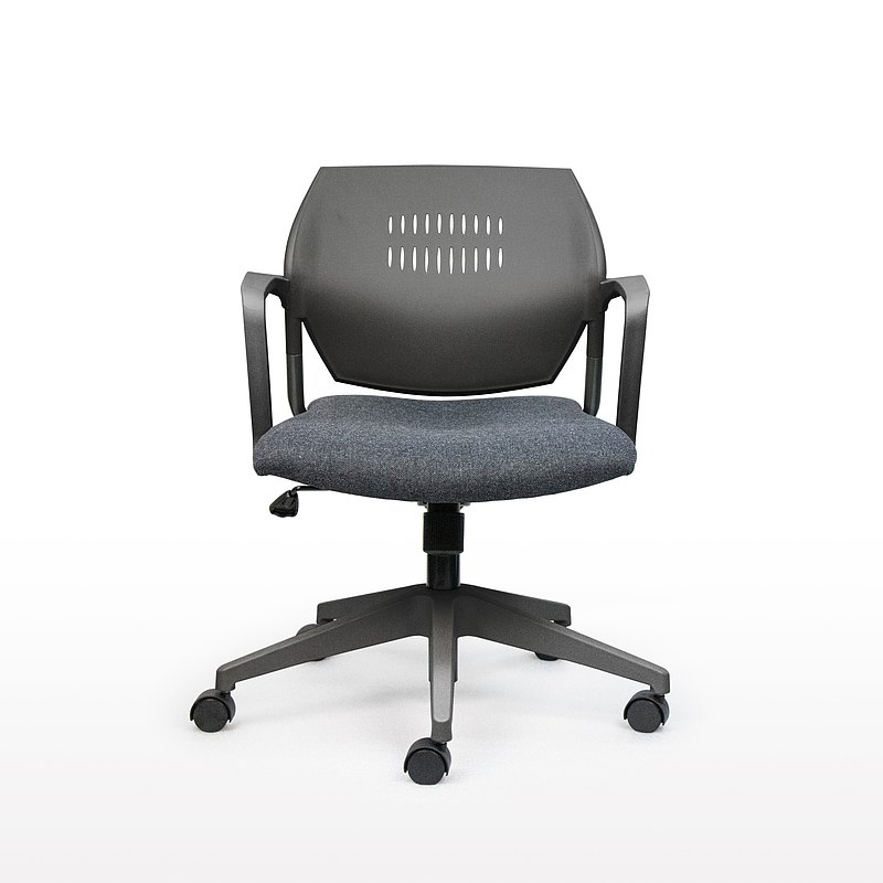 IMPRESSA | 小資扶手辦公椅 - 黑 x 深灰座