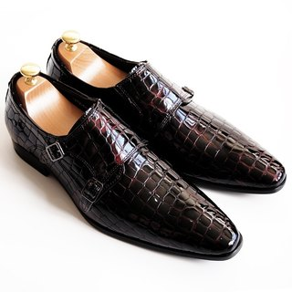 [LMdH] cooperation paragraph S1B01-79 LMdH x STERLING & Co.: leather bottom shoes Munch - red wine - Free Shipping