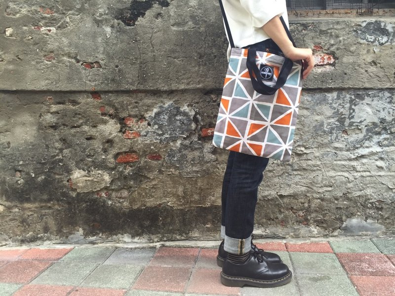 [Customized] secretly call me / pop style dual-use bags orange checkered gray