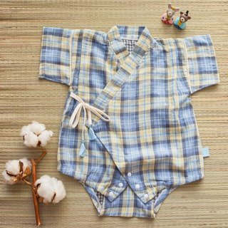 [my little star] hand man Oz country blue sky 咰 Yang organic cotton double yarn is flat and uniform package fart clothing