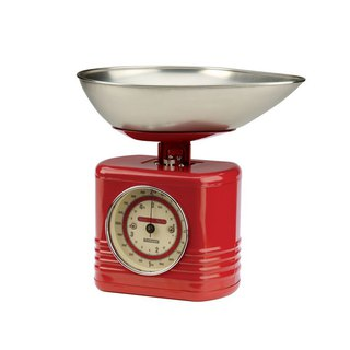 British Rayware industrial wind retro streamline modeling 2 kg kitchen mechanical scale (red)