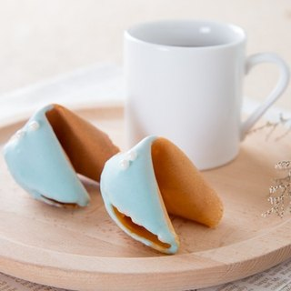 C.Angel [sky blue pink total of 50 fortune cookie] on the table was a small wedding ceremony fortune cookie can be customized to sign the text