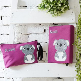 Adorkable series fabric book cover&makeup bag-Koala