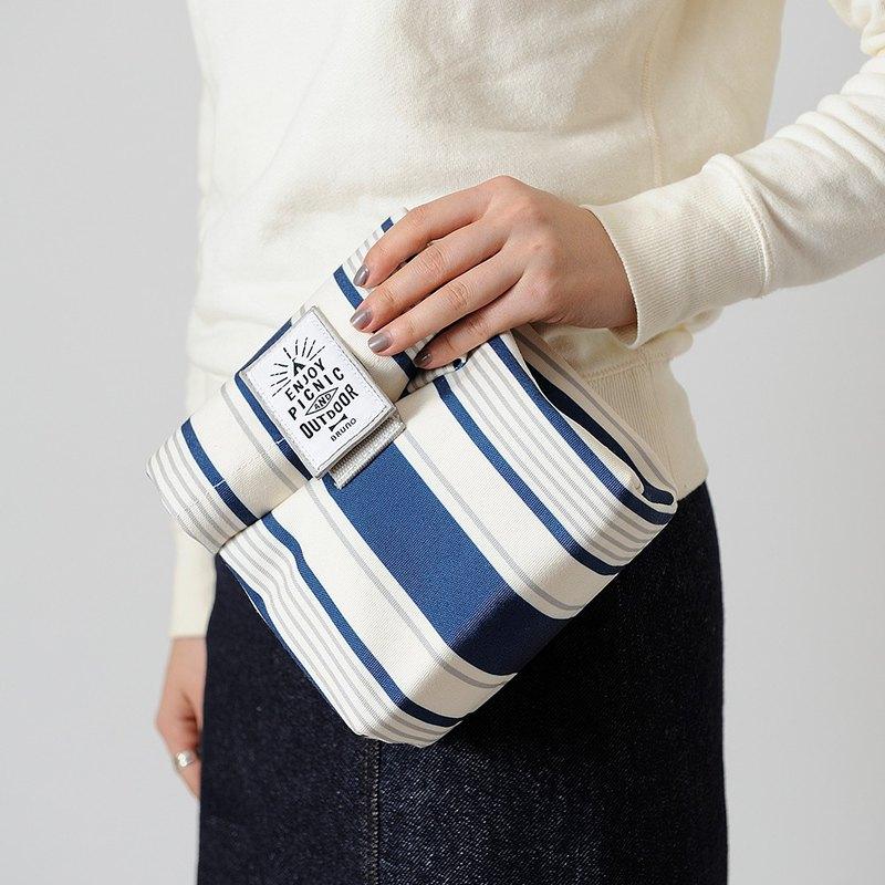 日本BRUNO 條紋保溫保冷午餐包(藍白條紋)