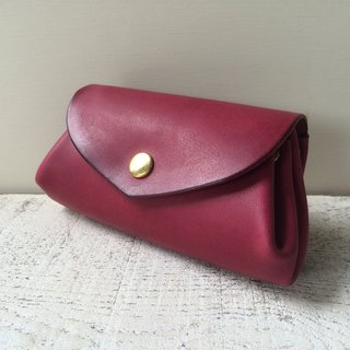 CoroCoro wallet Italian leather fave Plum M size