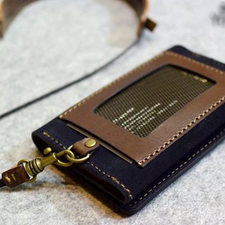 YOURS handmade leather documents Haig network card holder (large capacity) + adjustable neck strap