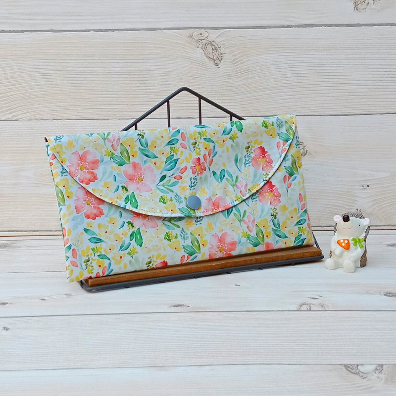 [Spot-Mask Storage Bag] Yellow Splash Ink Flower / Waterproof Material