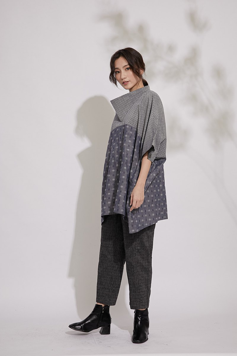 Elf cape top_polka dot jacquard_fair trade