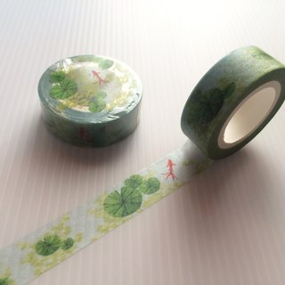 Green duckweed paper tape