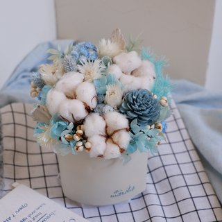 Customized Exclusive Order - Blue and White Hanging Potted Flower For Mos Shie