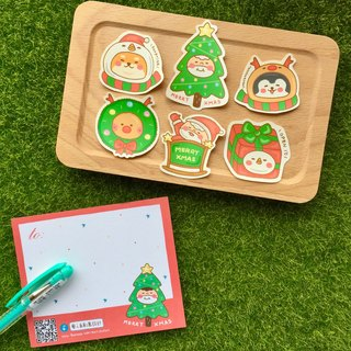 """Art of fish"" Christmas joy stickers package"