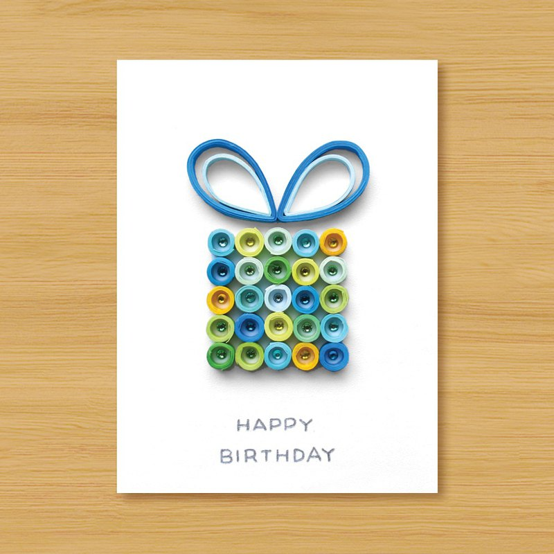 (3 models to choose from) Scroll Cards _ Happy Birthday Gift Box-Birthday Card