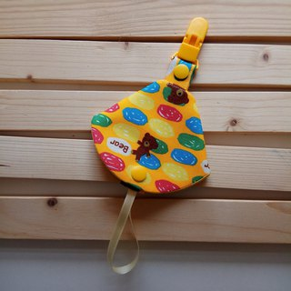 Candy Bear Two-in-One Pacifier Clip <Pacifier Dust Bag + Pacifier Clip> Dual Function