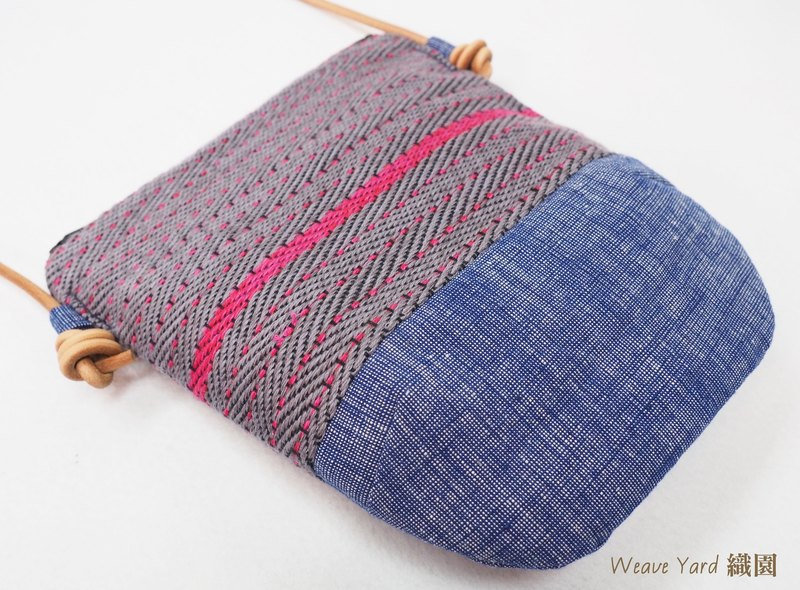 Handwoven Day Bag - Grey Pink