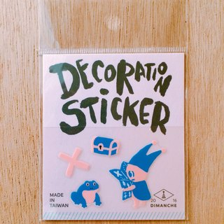 Dimeng Qi small decorative stickers [elf - Treasure Hunt]
