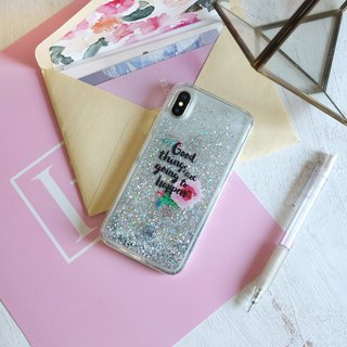 PATTERN LAB | Liquid Glitter Case for iPhone X - Good Things