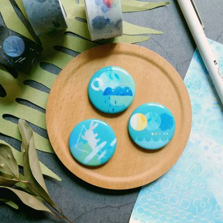 Universe universe series badges pin lake green