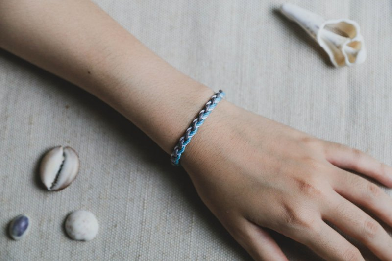 Mercury | Four strands of wax rope braided bracelet