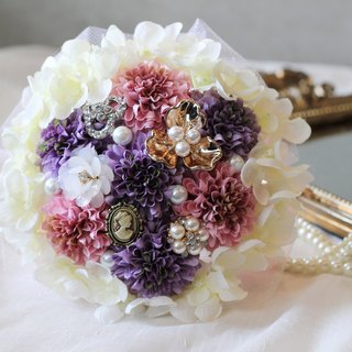 Jewelry classic lace bouquet [] exquisite small ball daisy bouquet / Purple