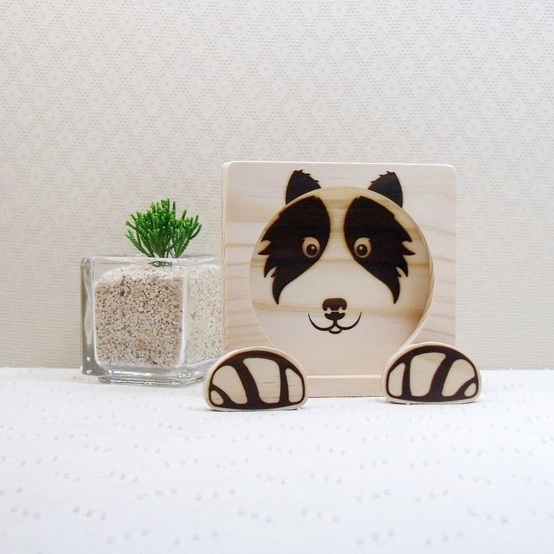 Border Collie BORDER COLLIE Mobile Phone Holder Christmas Coaster Dog Claw Reel Custom Name