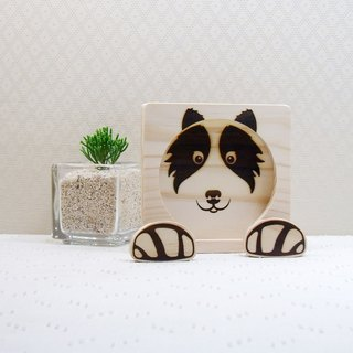 Border Collie BORDER COLLIE Mobile Phone Holder Coaster Dog Claw Reel Custom Name