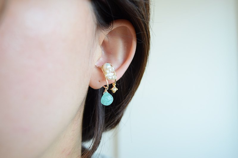 14kgf Amazonite耳套【一耳一耳】