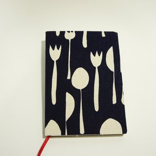Cloth - hand-cloth laptop - line can be opened - dark blue knife and fork totem (S small)