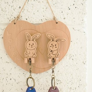 【Valentine's Day Valentine's Day】 Rabbit ┇ custom key ring hanging version