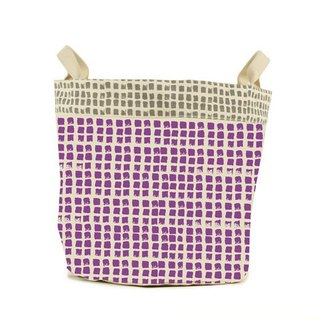 Canada fluf organic cotton portable storage dual-use bag - small dot (small) grape purple