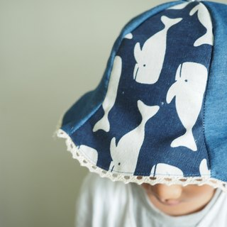 Handmade Blue sperm whale baby/ kid hat
