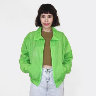 Fluorescent green retro windproof vintage jacket BM3010