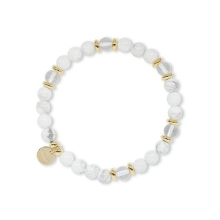 String Series Brass White Stone White Crystal Bracelet Natural Ore Crystal