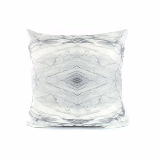 HARD RAYS WHITE PILLOW COVER