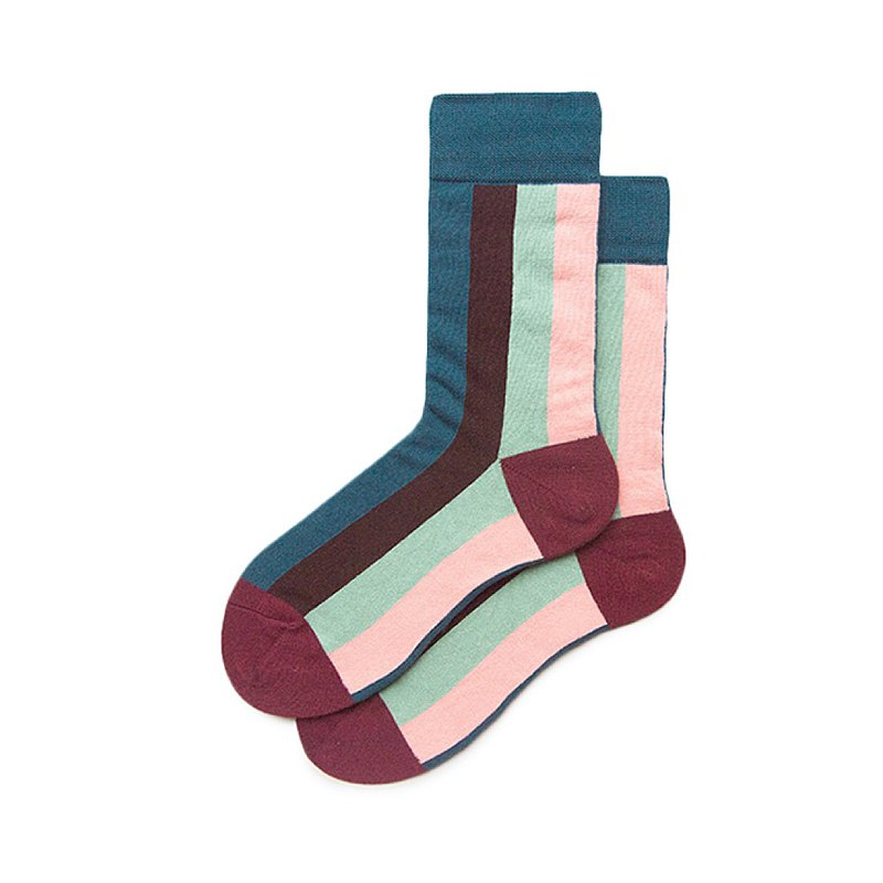 Contrast color socks cotton socks retro Korean street color matching middle tube tide socks Japanese couple socks socks