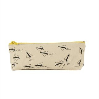 Canadian Fluf Organic Cotton 【Pencil/Life Tool Bag】--Paper Aircraft