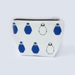 小钱包 Penguin Coin Purse Cute Small Zipper Pouch- Black White