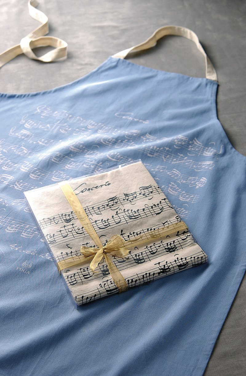 FUGUE Origin Musician Manuscript Apron - Bar Concerto - Azure