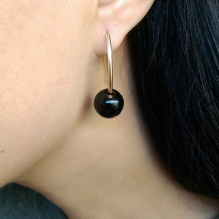 Black marble 14 Gold-Filled Earrings